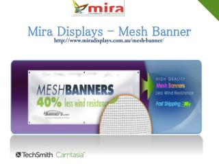 Custom mesh banner is powerful item for outdoor business pr