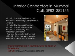 Interior Companies in India , Interior Contracting firm , Interior Contracting Companies in Mumbai
