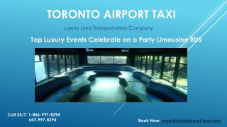 Top Events Luxury Transportation Party Limo BUS in toronto