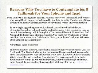 Best Way to Jailbreak iOS 8