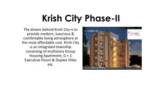 Krish City- II Multistory Properties In Bhiwadi