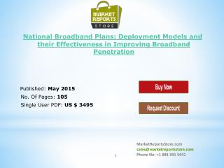 National Broadband Plans & Research Forecast Report to 2019