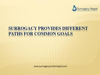 Surrogacy Provides Different Paths for Common Goals