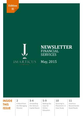 Imarticus Financial Services Newsletter