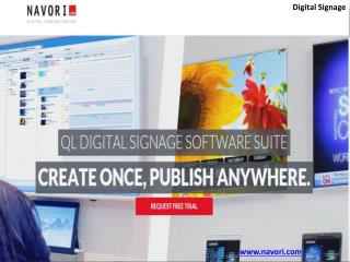 Digital signage software | Digital Signage | Navori Softeare