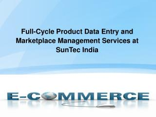 Ecommerce Product Data Entry and Upload services