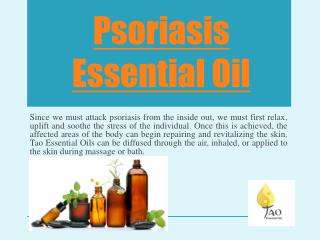 Psoriasis With Essential Oils