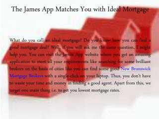 New Brunswick Mortgage Brokers