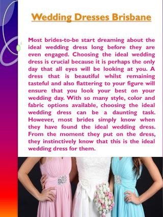 Bridesmaid Dress Brisbane