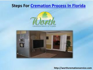 Steps For Cremation Process In Florida