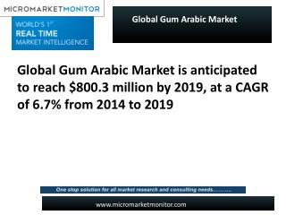 Global Gum Arabic Market