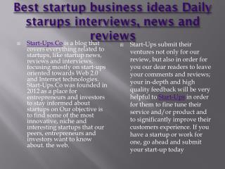 Best startups business ideas