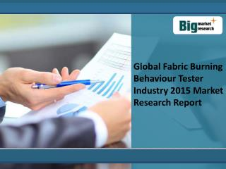 Global Fabric Burning Behaviour Tester Industry 2015 Market