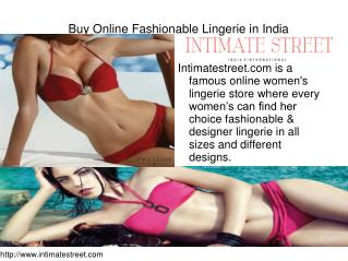 Buy Online Fashionable Lingerie in India