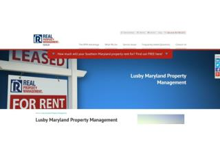 Property Management in Lusby Maryland