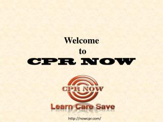 First aid CPR training online
