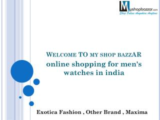 Buy Branded Watches For Men Online in India