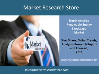 Global Renewable Energy Landscape in North America Gaining M