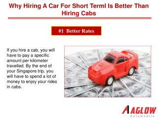 Why hiring a car for short term is better than hiring cabs