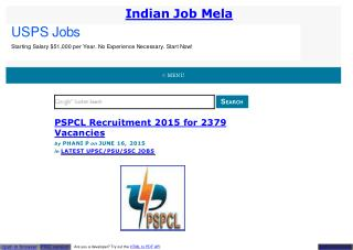 PSPCL Recruitment 2015 for 2379 Vacancies