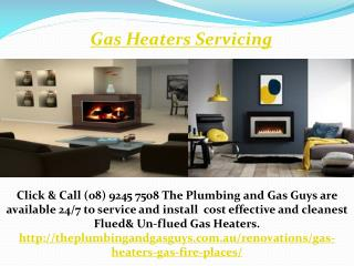 Gas Heaters Servicing