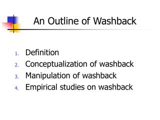 An Outline of Washback