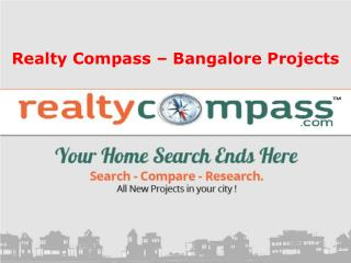 Realty Compass Trending Projects in Bangalore