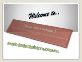 Web Design Company In Canberra