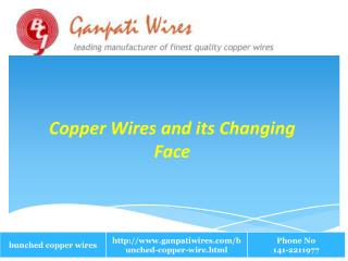 Copper Wires and its Changing Face