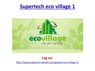 Supertech Eco Village 1 Noida Extension