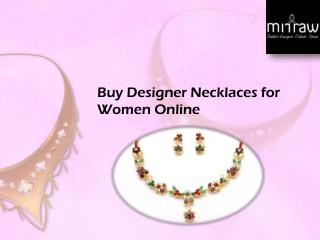 Designer and Bridal Necklaces for Women's