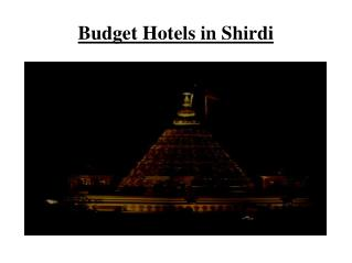 Budget Hotels in Shirdi