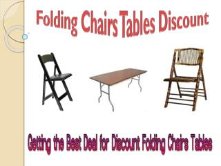 Best Deal for Discount Folding Chairs Tables