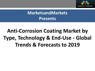 Anti-Corrosion Coating Market worth $26,583 Million by 2019