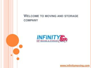 Moving and Storage Company - Infinitymoving