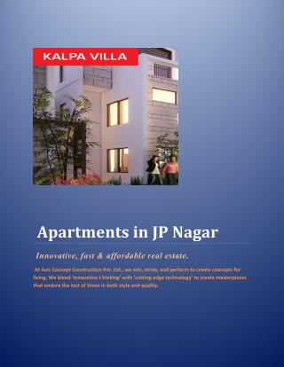 Apartments in JP Nagar