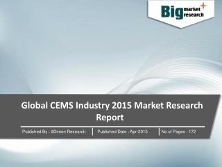 Global CEMS Industry : Market Research Report 2015