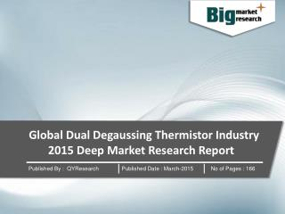 Global Dual Degaussing Thermistor Industry 2015