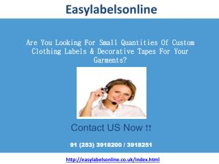 Clothes Labels- Easy Labels