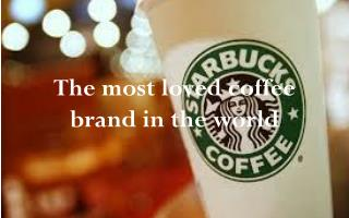 The most loved coffee brand in the world