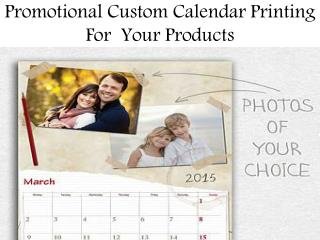 Promotional Custom Calendar Printing For  Your Products