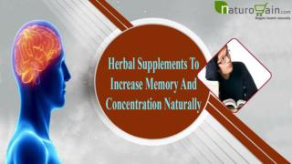 Herbal Supplements To Increase Memory And Concentration