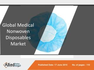 Detailed Analysis on Medical Nonwoven Disposables Market