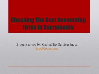 Choosing The Best Accounting Firms In Sacramento