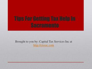 Tips For Getting Tax Help In Sacramento
