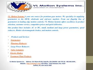 VL Motion-Geared Motor