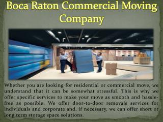 Boca Raton Commercial Moving Company