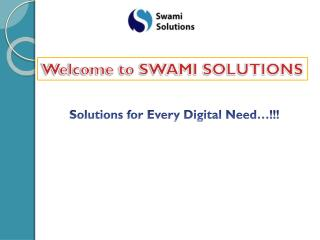 Swami Solutions | Web designing Company, SEO Services, SEO t