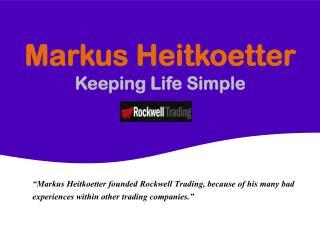 Markus Heitkoetter - Keeping Life Simple