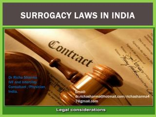 Surrogcy laws in india